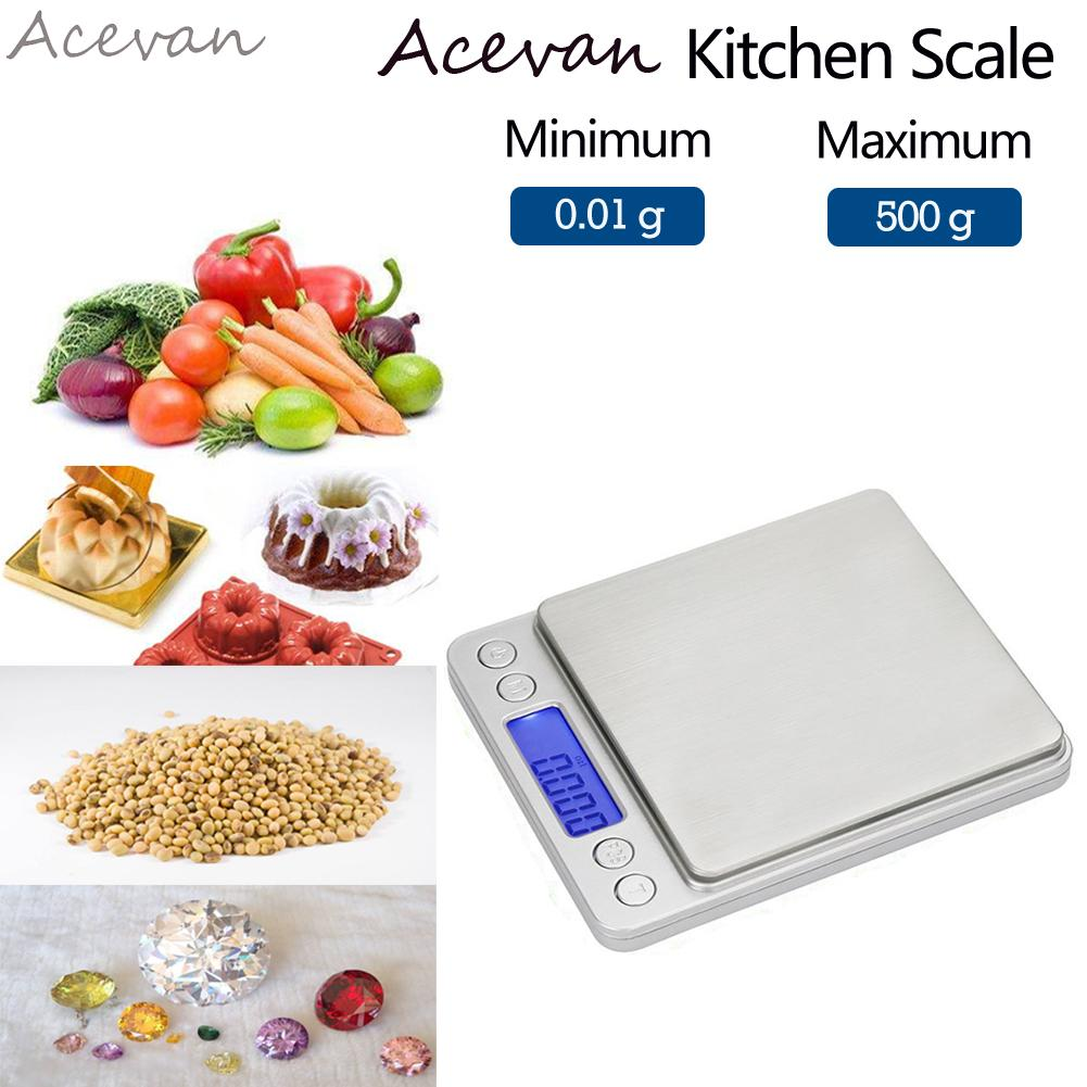 Acevan 500g/0.01g Digital Pocket Stainless Jewelry & Kitchen food ...